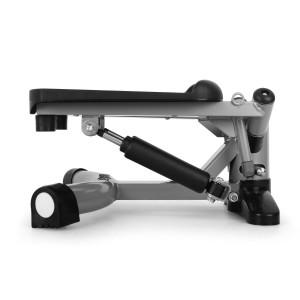 Klarfit Powersteps - Stepper hydraulique antidérapant avec extenseurs pour muscler jambes, abdos, fessiers