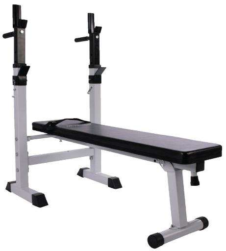 Physionics - banc de musculation pliable avec support pour haltere et station à dips