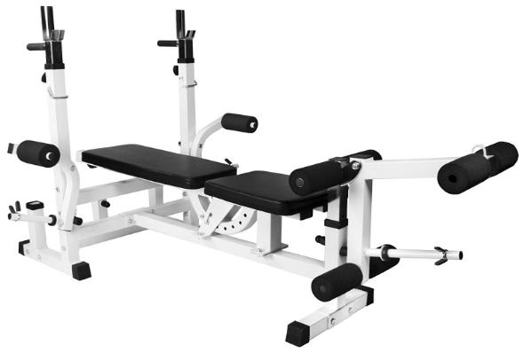 Test du Banc de musculation universel avec support pour halteres GS005