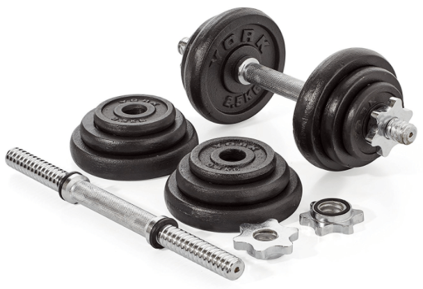 York Fitness jeu d'halteres en fonte de 20 kg test