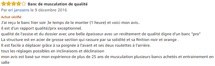 evaluation MiraFit Banc Reglable de musculation robuste 260 kg
