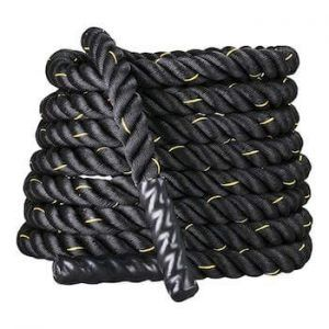 corde ondulatoire display 4 top noire pour fitness crossfit