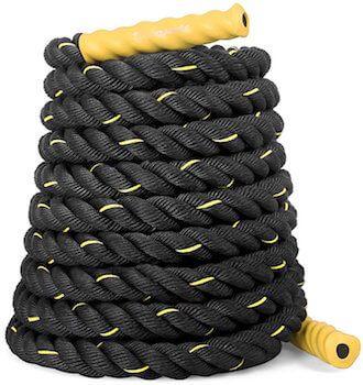corde ondulatoire sportplus noire pour fitness crossfit